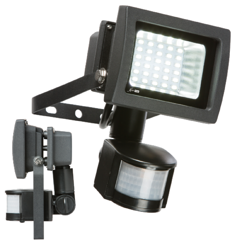 15w LED FLOODLIGHT 6000K 1200LM + PIR SENSOR (412384)